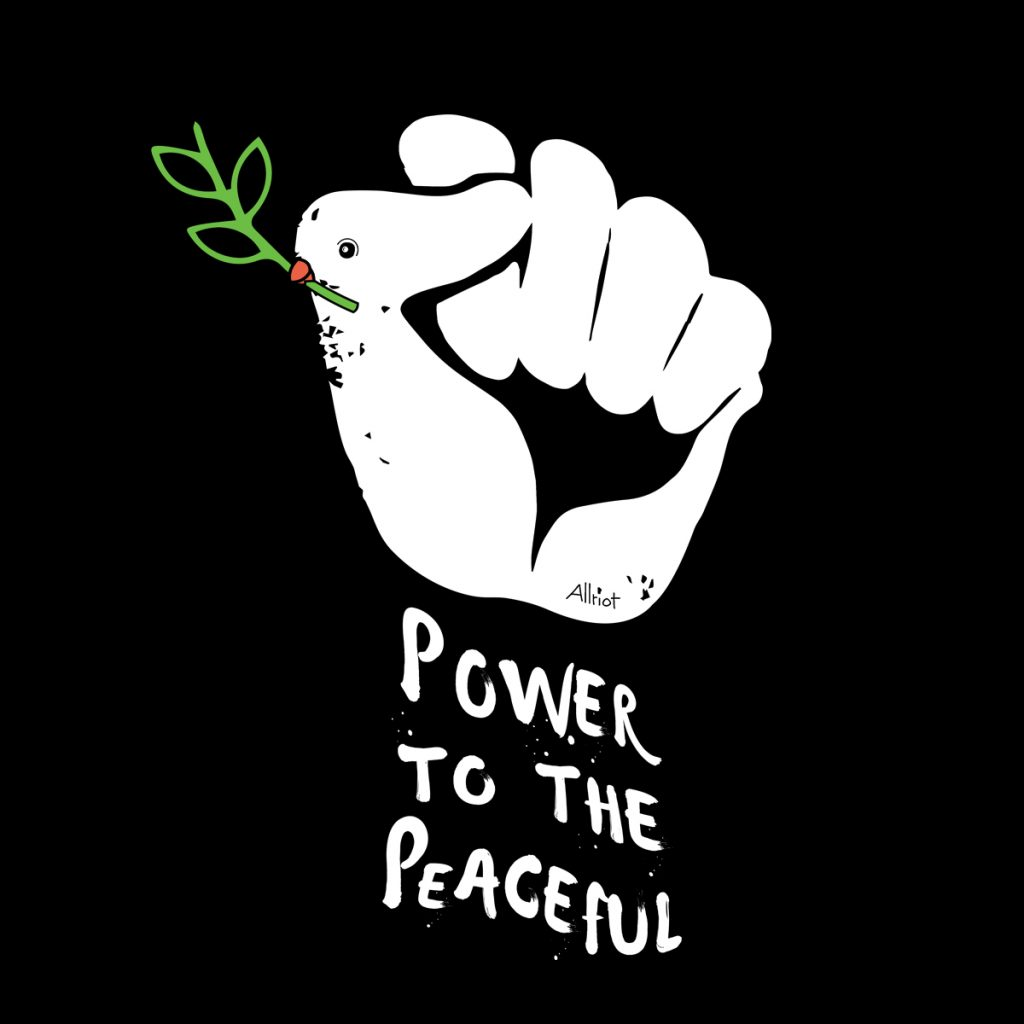 power-peaceful-black