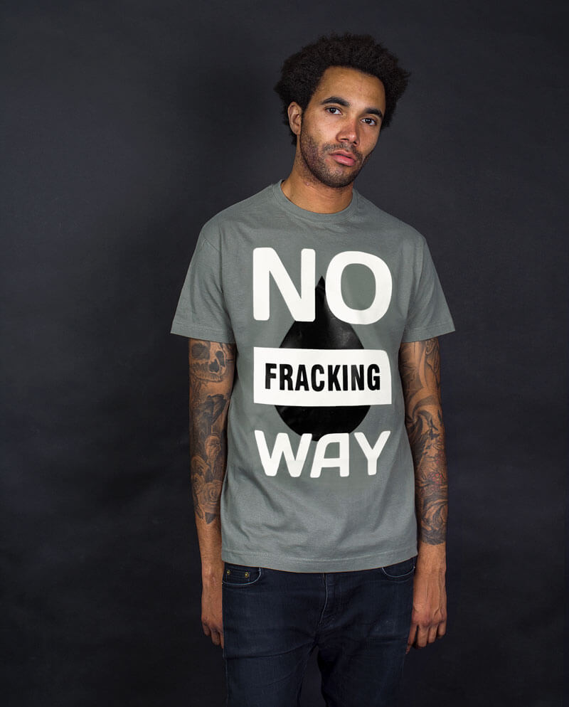 No fracking way corporate environmental pollution T-shirt