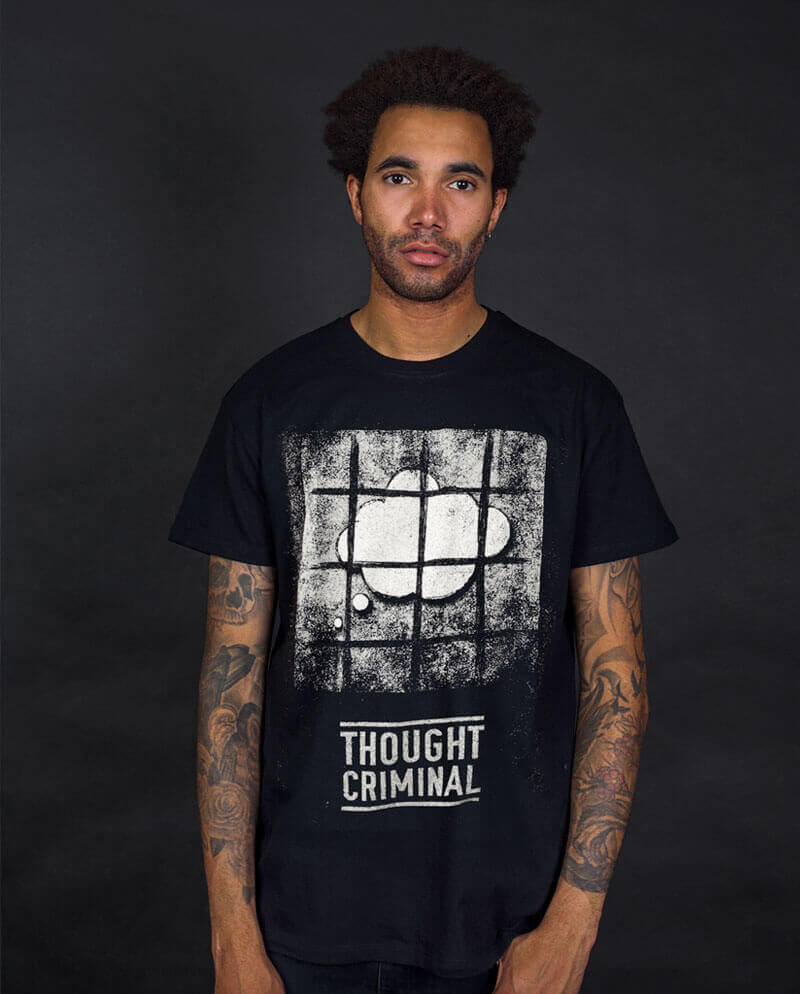 Thought criminal 1984 Orwell T-shirt