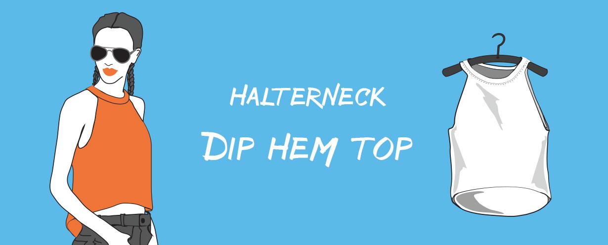 halter neck dip top hem t-shirt cutting tutorial