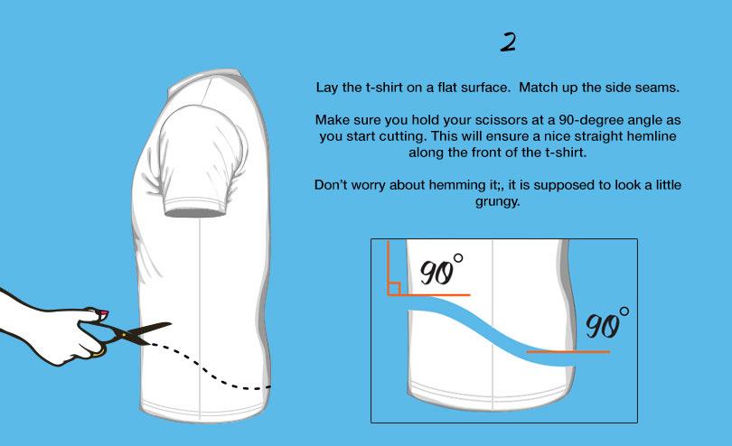 cool halter neck t-shirt dip hem tutorial