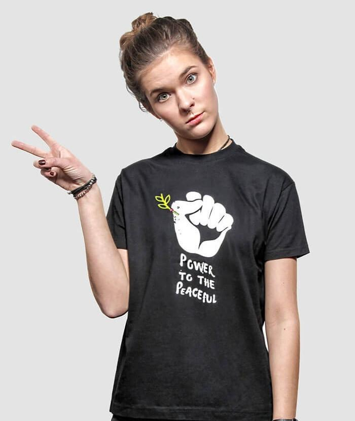 Power To The Peaceful T Shirt By Allriot Anti War T Shirts