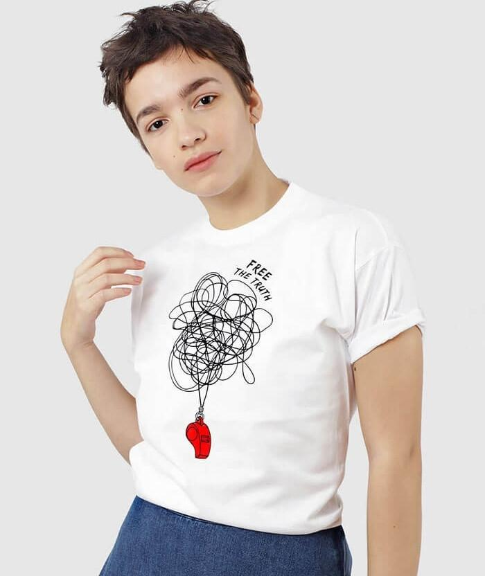 shop cool printed tees wikileaks t-shirt