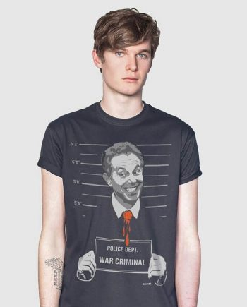 tony blair war criminal t-shirt funny
