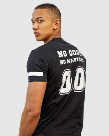shop no gods no masters t-shirt with anarchy print