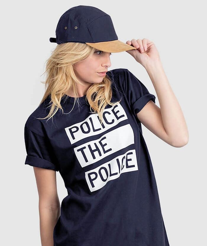 Police the Police Slogan T-shirt - ALLRIOT Political Shirts