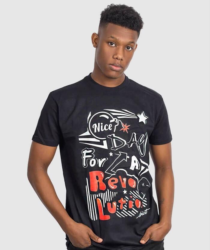 Revolution shirts nice day for a revolution t shirt allriot for Graphic t shirt shop