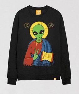 alien-jesus-funny-printed-crewneck-sweater