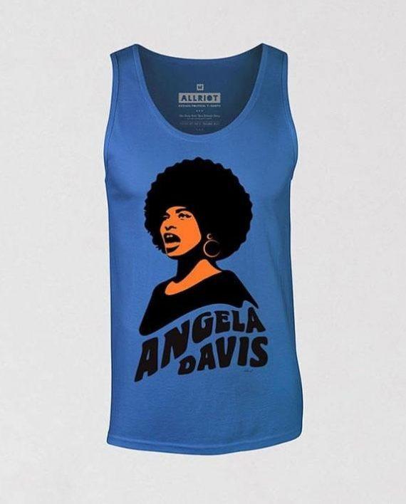 angela-davis-blue-sleeveless-tank-top