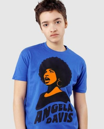 angela davis graphic t-shirt