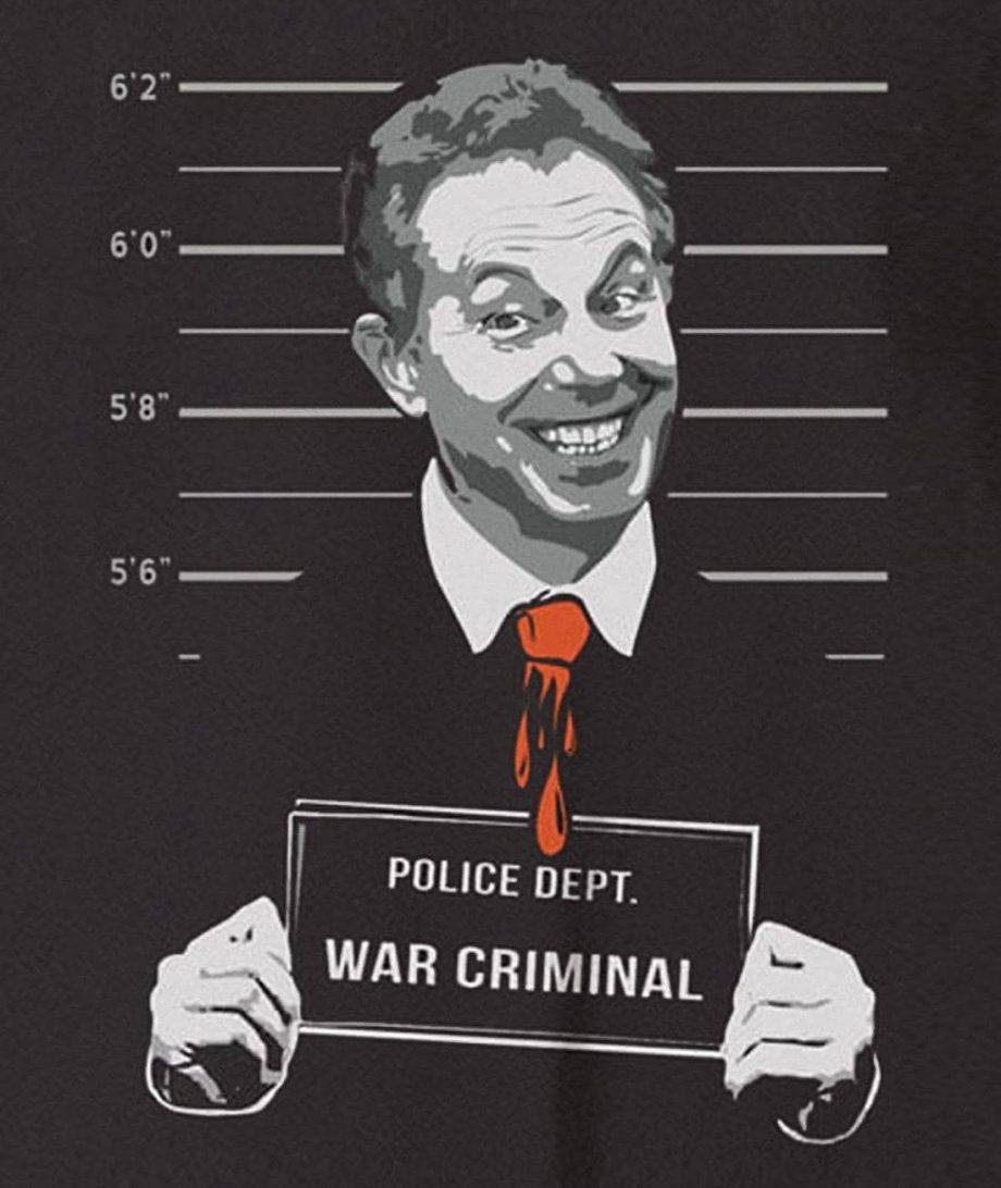 Tony Blair war criminal shirt
