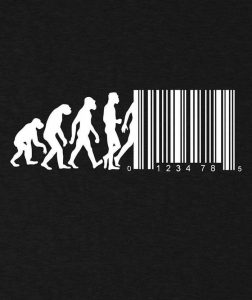 barcode-evolution-bansky-black-streetwear-T-SHIRT-for-men-and-women