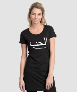black-Tee-SHIRT-DRESS-love-arabic
