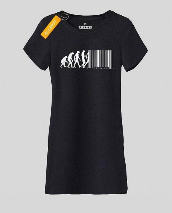 black-cotton-T-SHIRT-DRESS-uk-Barcode-funny-print