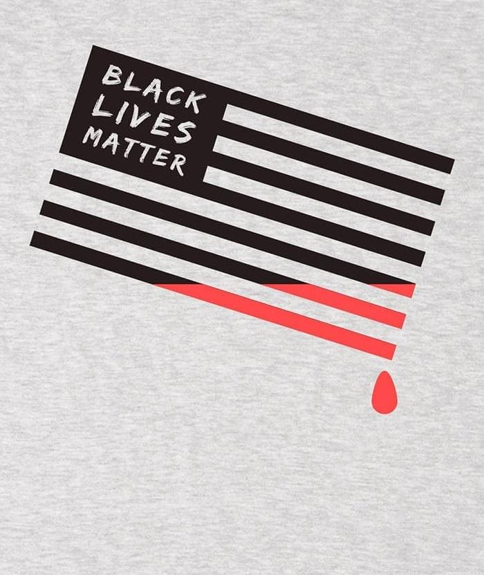 Black lives matter t-shirt anti police print