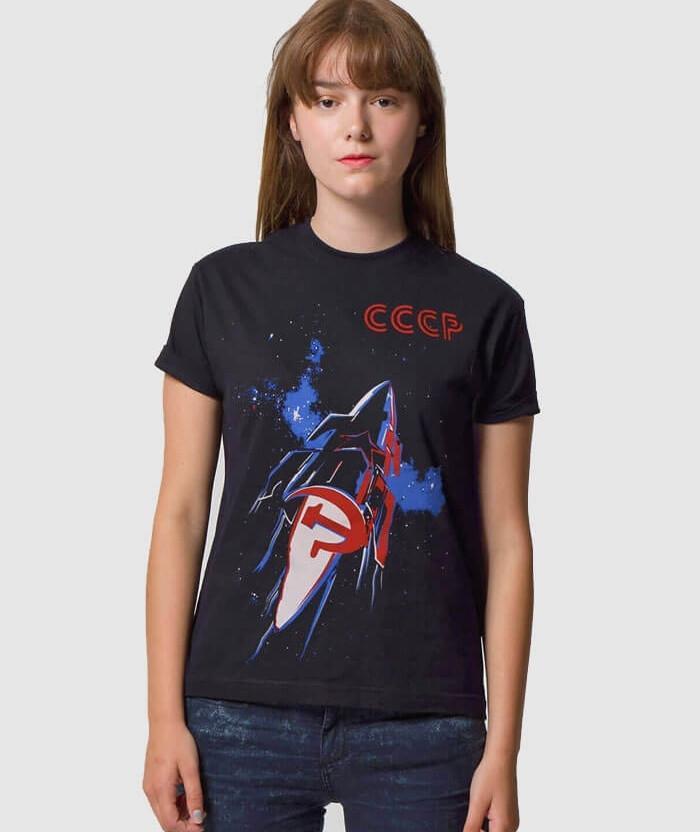 c685b81915f CCCP T-shirt | Original Space Race Soviet Poster | ALLRIOT