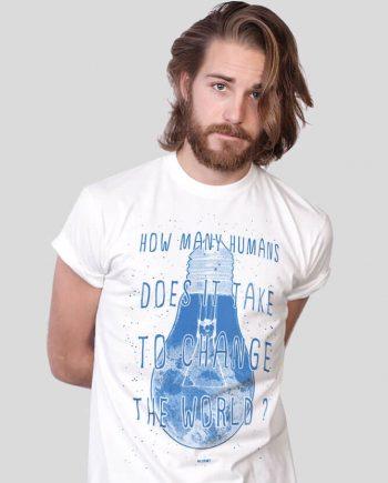 change the world graphic t-shirt