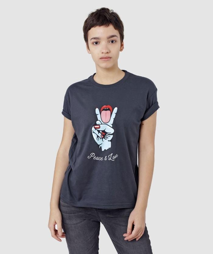 cheeky Peace and Love T-shirt