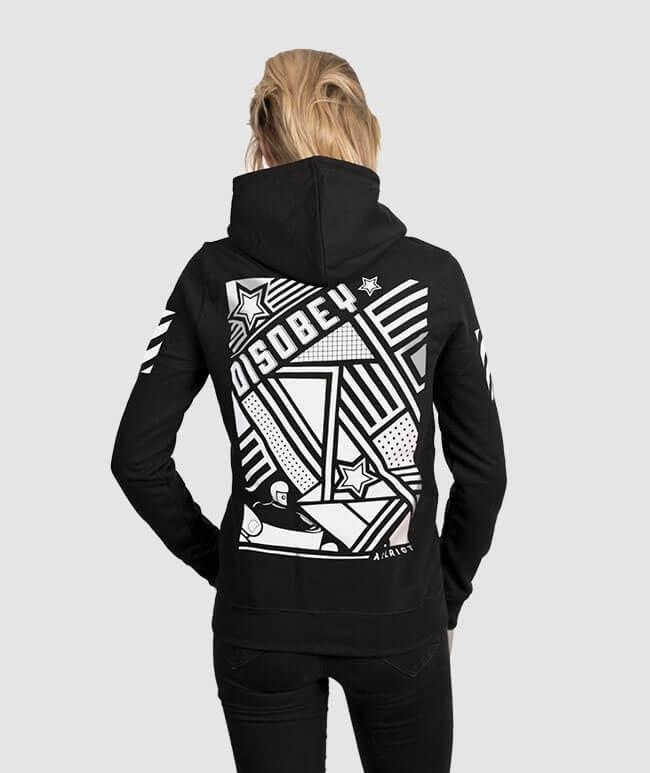 Disobey clothing hoodies black