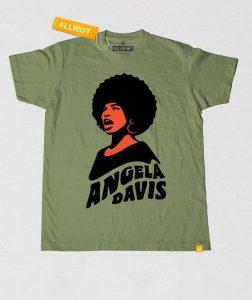 free-angela-davis-khaki-t-shirt