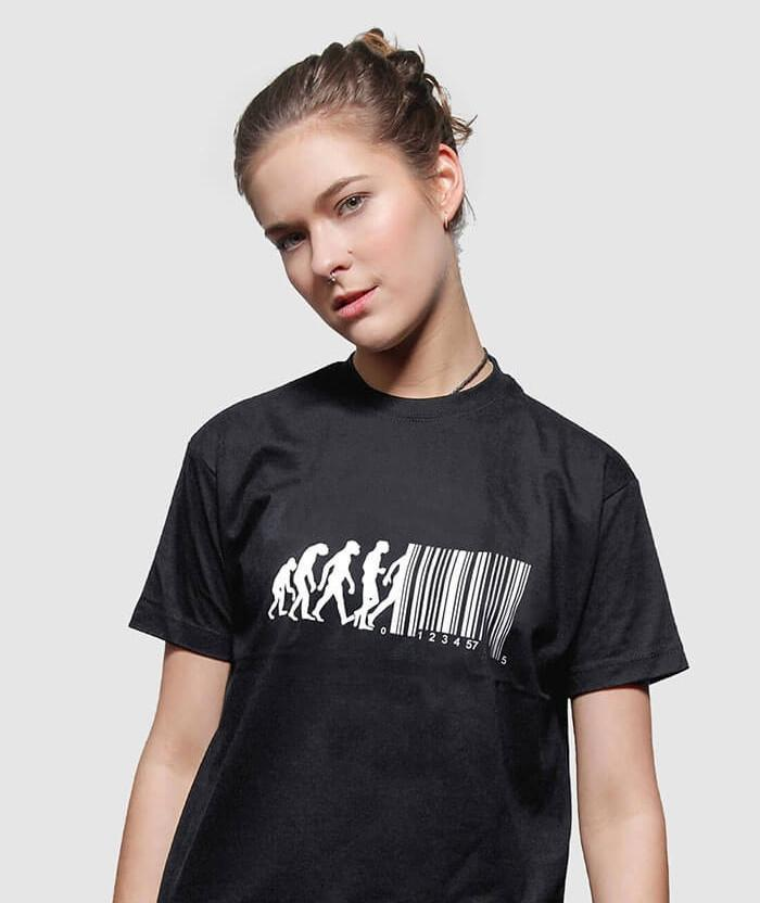 2b47edecad49 Barcode T-shirt - March of Progress Funny Evolution Shirts