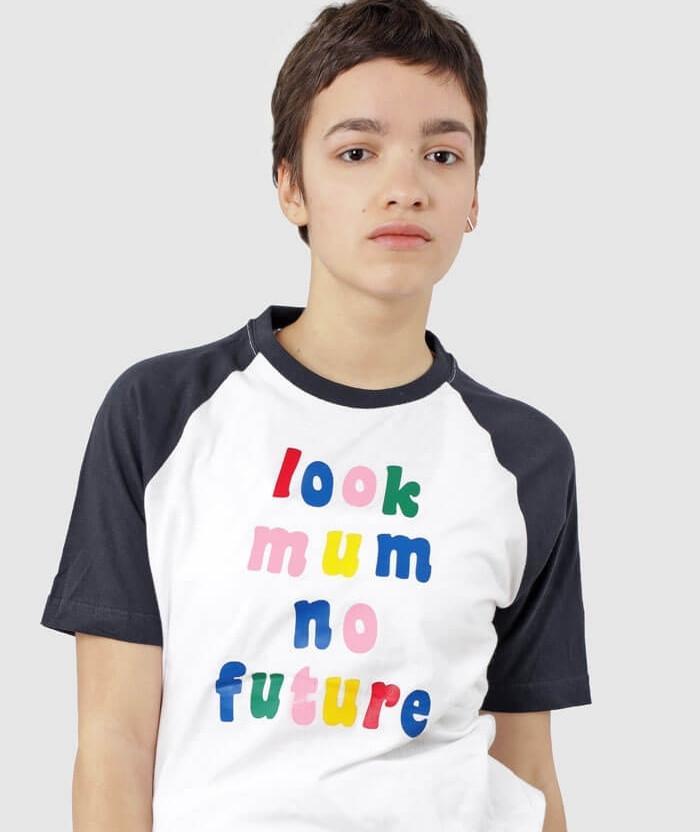 Look Mum No Future T-shirt funny slogan