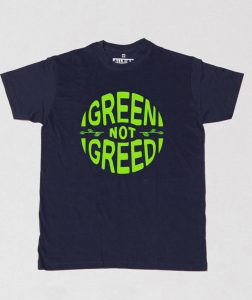 green-not-greed-party-shirt