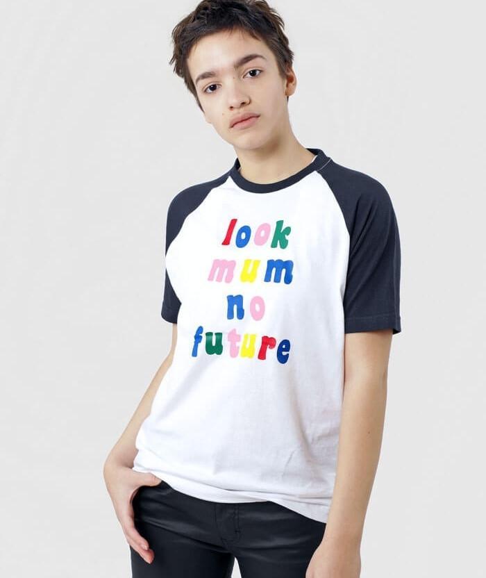 Look Mum No Future T-shirt funny retro print