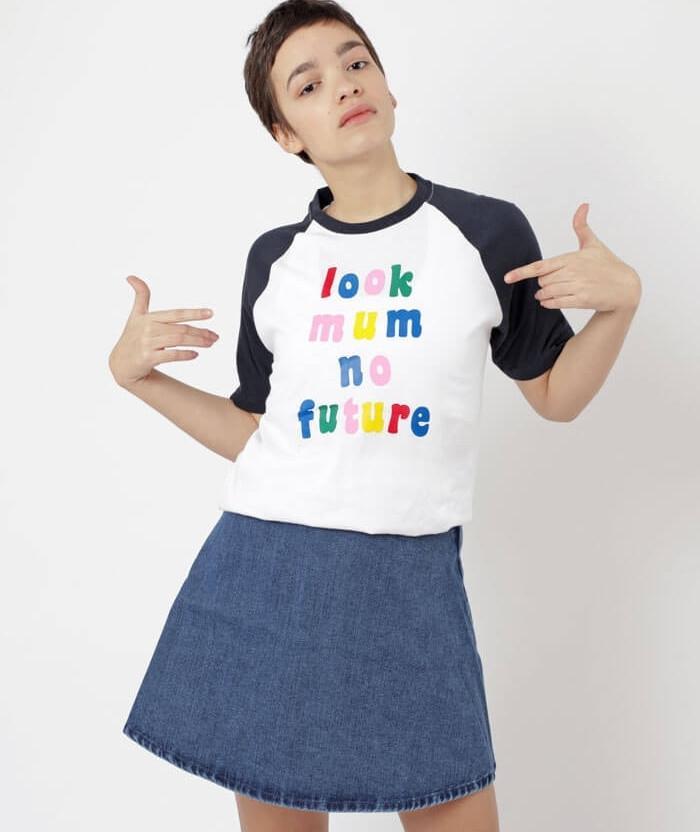 Look Mum No Future slogan T-shirt