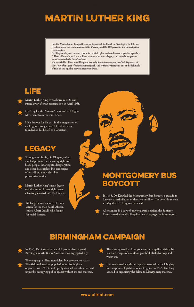 Martin Luther King infographic