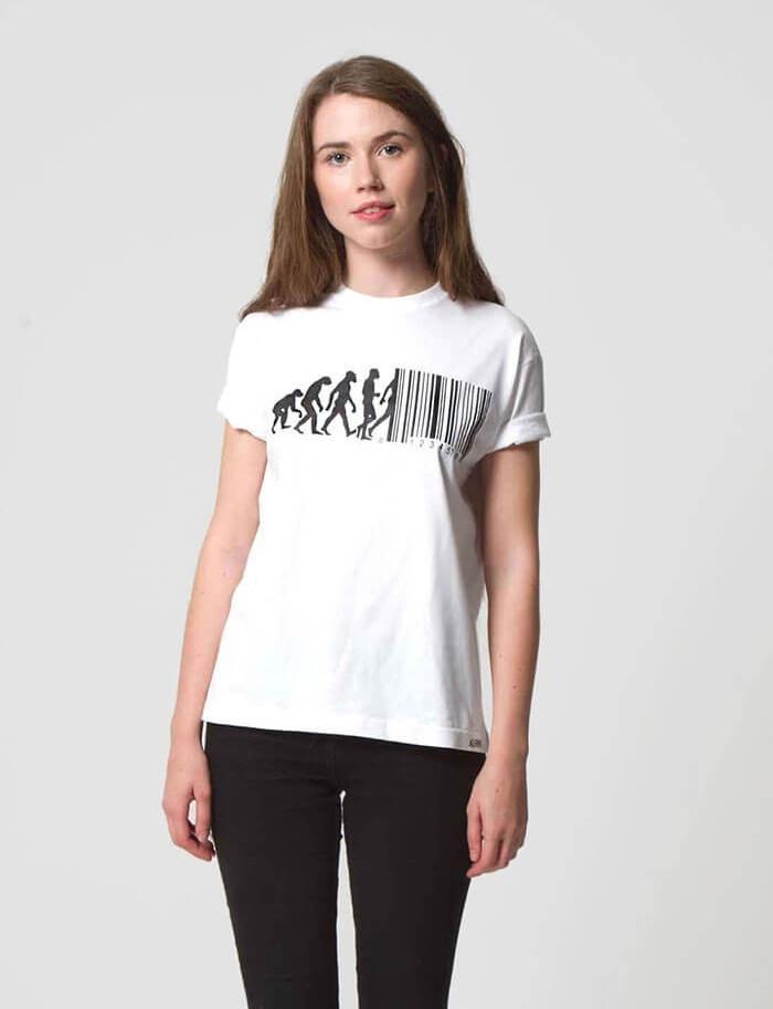 funny barcode evolution t-shirt