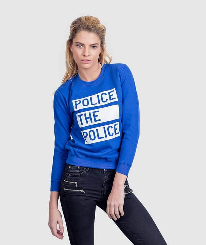 Mens Womens Sweater Anti Police Brutality Slogan