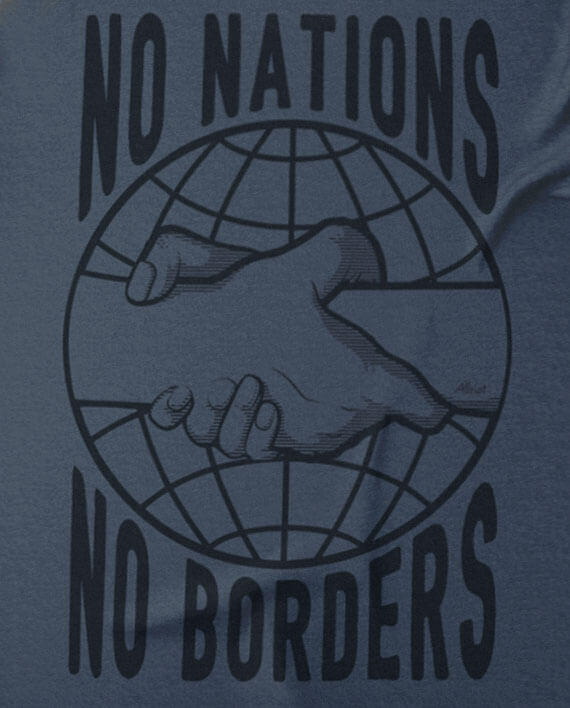 no nations refugees are welcome tee shirt