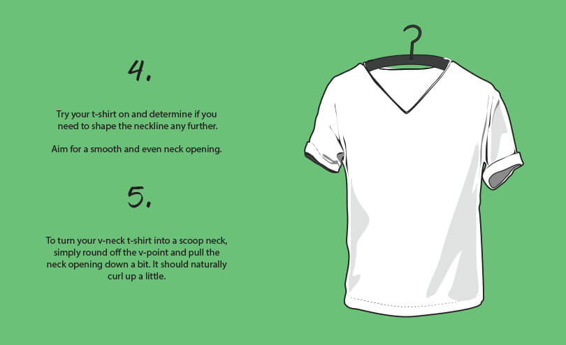 diy v-neck t-shirt cutting tutorial