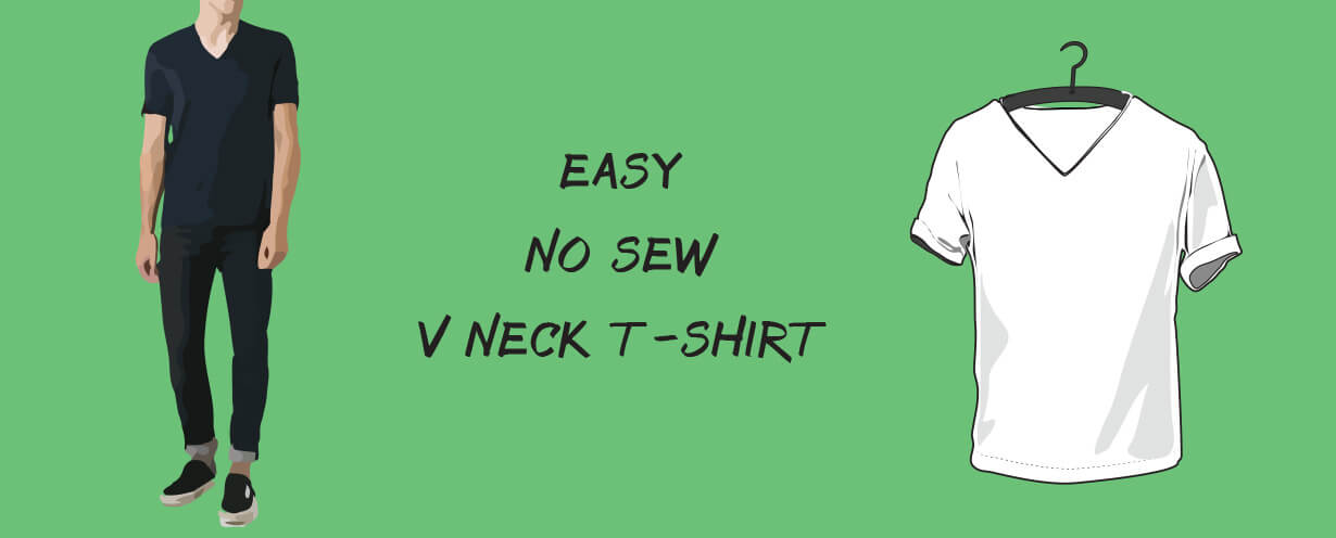 easy no sew v neck t-shirt cutting tutorial