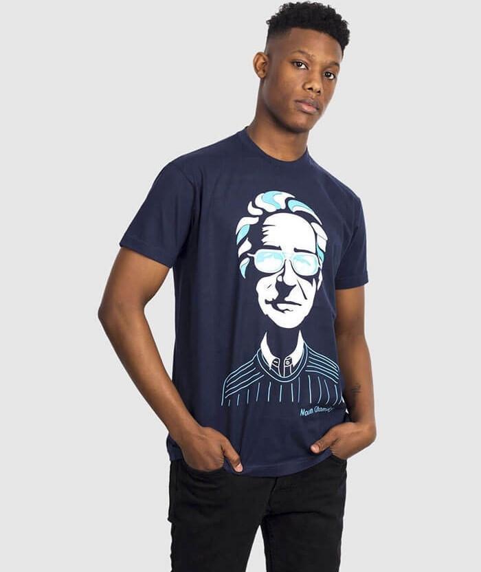 noam chomsky t-shirt left wing political discourse
