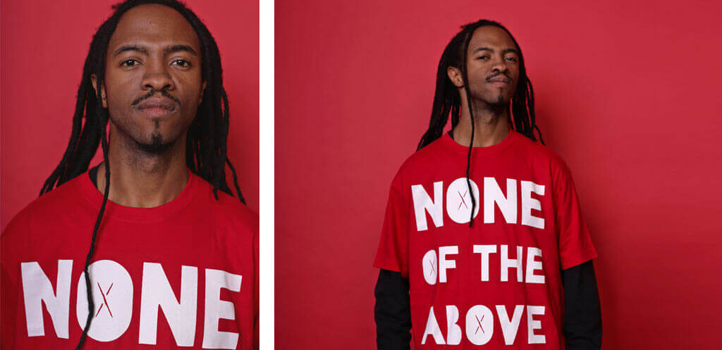 none of the above red t-shirt lookbook