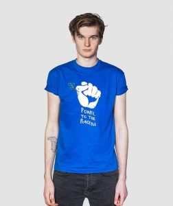 power-to-the-peaceful-mens-womens-t-shirt