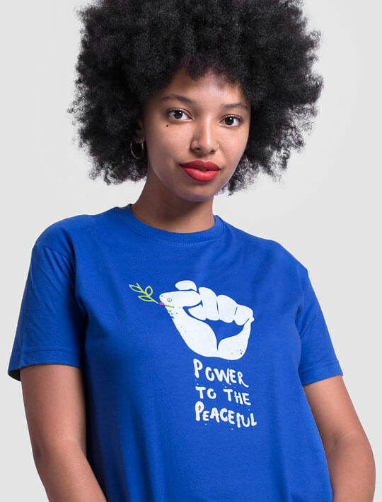 power to the peaceful t-shirt cool graphic tees