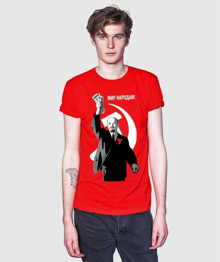 Lenin Peace to all nations t-shirt