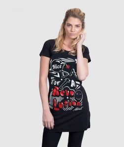 printed-black-T-SHIRT-DRESS-nice-day-revolution-urban-graphic