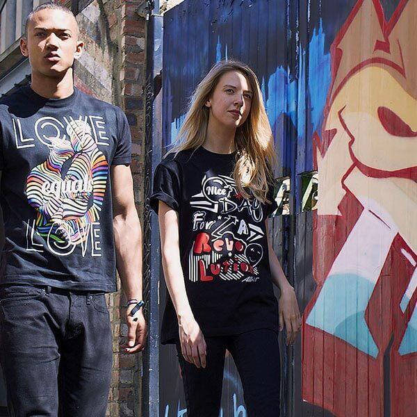 revolution t-shirt with cool slogan lookbook