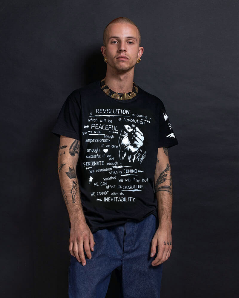 Revolution Kennedy quote T-shirt