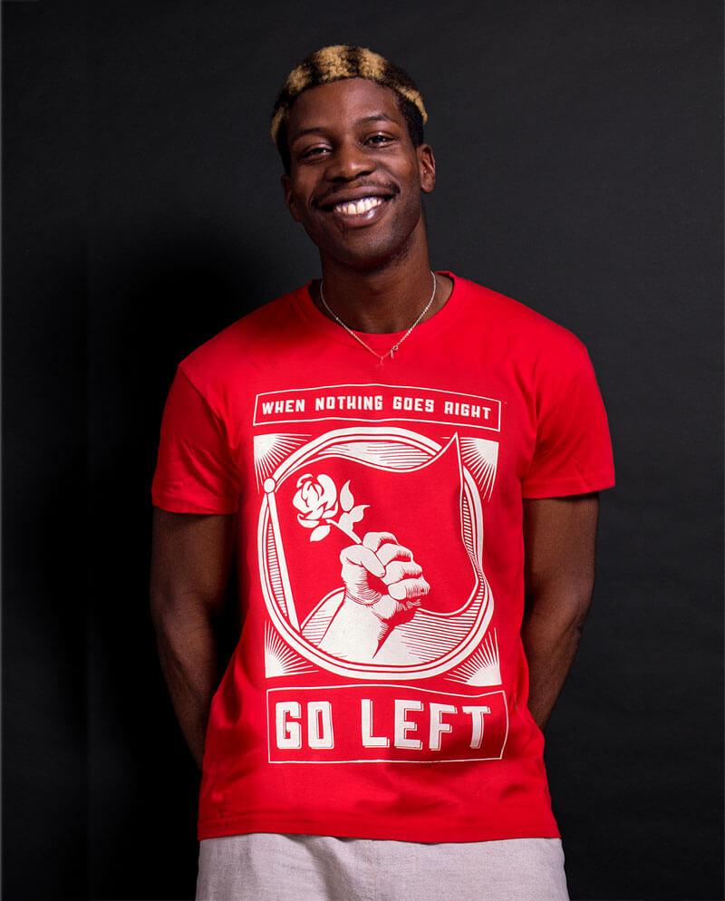 socialist t-shirt go left wing clothing