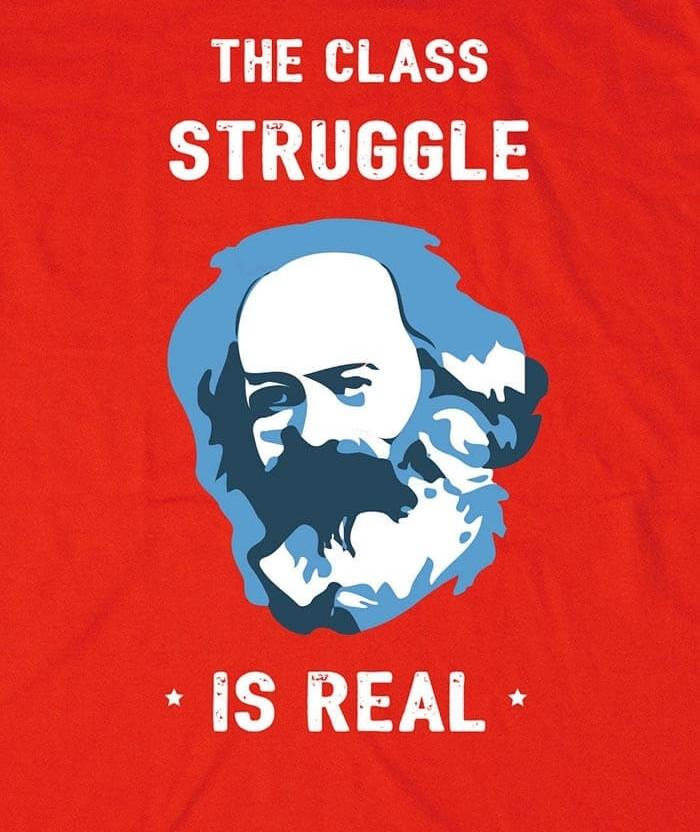 socialist the struggle is real t-shirt