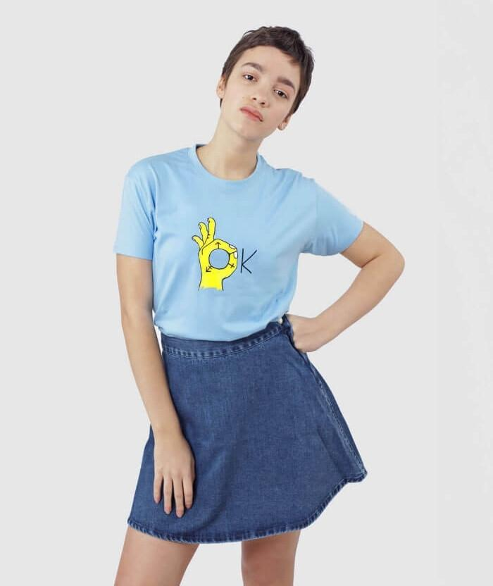 Blue Transgender OK T-shirt cool