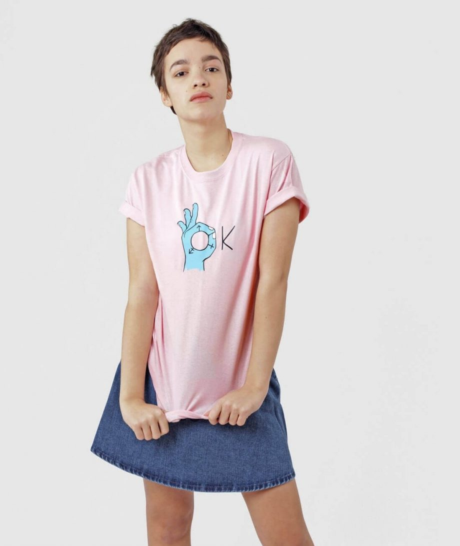 Pink Transgender rights T-shirt