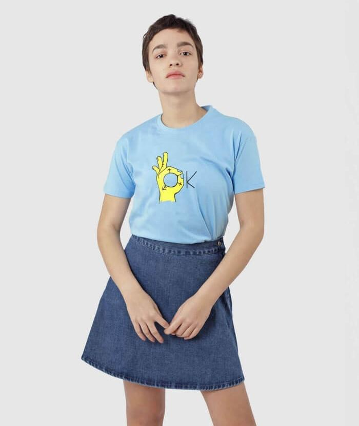 Blue Transgender pride T-shirt non binary