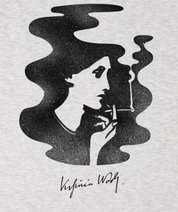 virginia-woolf-ash-grey-marl-t-shirt-for-men-women