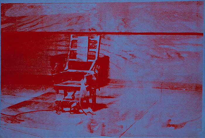 andy warhol electric chair art piece